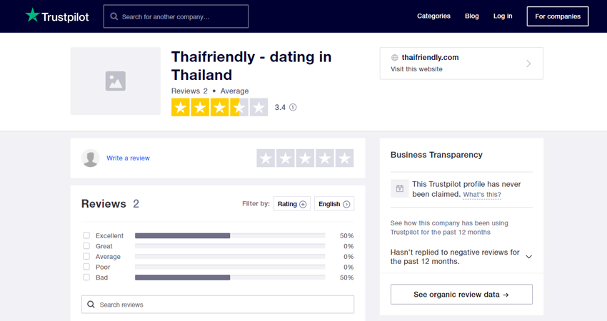 Thaifriendly review at Trustpilot.com