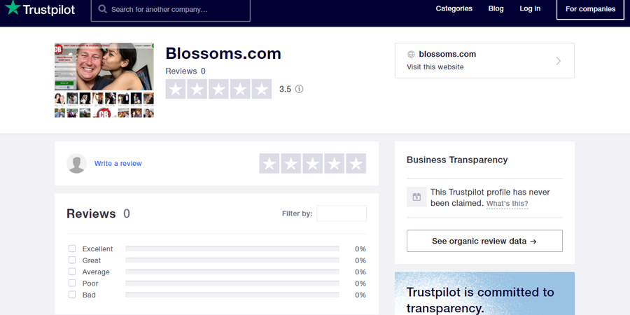 Blossoms com review at Trustpilot.com